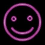 purple happy face