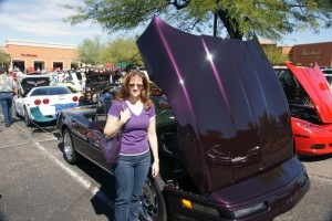 JoJo and Purple Corvette