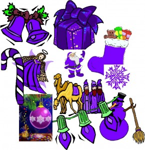 25 days of purple christmas collage